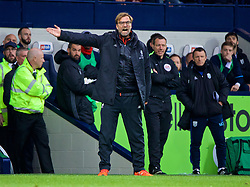 WEST BROMWICH, ENGLAND - Easter Sunday, April 16, 2017, 2016: Liverpool's manager Jürgen Klopp reacts on the touchline during the FA Premier League match against West Bromwich Albion at the Hawthorns. (Pic by David Rawcliffe/Propaganda)