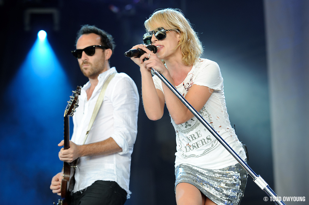Metric perfroming at Lilith Fair 2010 at Verizon Wireless Amphitheater in St. Louis, MO on July 16, 2010