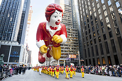 November 22, 2018 - New York, New York, U.S. - Ronald McDonald balloon at The 2018 Macy's Thanksgiving Day Parade in New York City, New York. (Credit Image: © Michael Brochstein/ZUMA Wire)