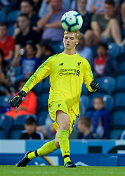 BLACKBURN, ENGLAND - Thursday, July 19, 2018: Liverpool's goalkeeper Caoimhin Kelleher during a preseason friendly match between Blackburn Rovers FC and Liverpool FC at Ewood Park. (Pic by David Rawcliffe/Propaganda)