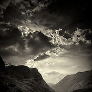 The pass of Glen Coe, Highlands, Scotland