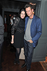 AMY MOLYNEAUX and PERCY PARKER at the launch party for Barberella, 428 Fulham Road, London SW6 on 17th October 2012.