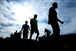 Bristol Rovers warm up at Lincoln City - Mandatory by-line: Robbie Stephenson/JMP - 14/09/2019 - FOOTBALL - Sincil Bank Stadium - Lincoln, England - Lincoln City v Bristol Rovers - Sky Bet League One