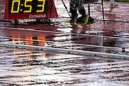 30.6.2012, Olympiastadion - Olympic Stadium, Helsinki, Finland..European Athletics Championship - Yleisurheilun EM-kisat..Juoksurata & hyppypaikka sateessa.