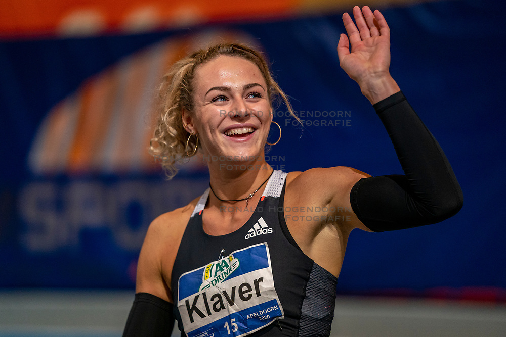 Lieke Klaver wins the 400 meters during the Dutch Indoor Athletics Championship on February 23, 2020 in Omnisport De Voorwaarts, Apeldoorn