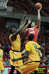 22 January 2014:  Reggie Lynch during an NCAA Missouri Valley Conference mens basketball game between the Shockers of Wichita Stat and the Illinois State Redbirds  in Redbird Arena, Normal IL.