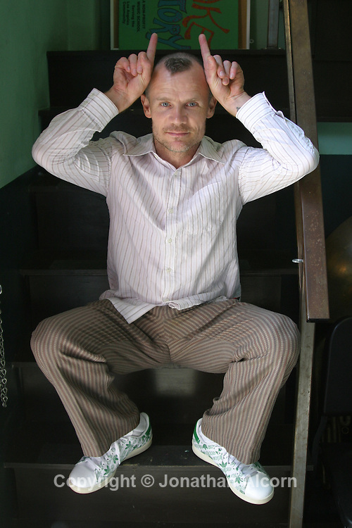 Musician Flea, bassist for The Red Hot Chili Peppers, at the Silverlake Music Conservatory