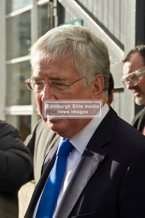 Pictured: <br /> Today Defence Secretary Sir Michael Fallon visited Midlothian engineering firm MacTaggart Scott which designs, builds and installs lightweight, low-noise hydraulic systems used by the British, US, French, Canadian, Australian and South Korean navies.<br /> Ger Harley   EEm 2 February 2017