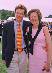 The HON.JAMES & MRS OGILVY he is the son of Princess Alexandra, at a polo match in Berkshire on 26th July 1998.MJG 26