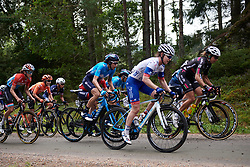 Gloria Rodriguez (ESP) in the bunch on the first gravel sector during Postnord UCI WWT Vårgårda WestSweden Road Race, a 145.3 km road race in Vårgårda, Sweden on August 18, 2019. Photo by Sean Robinson/velofocus.com