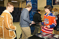 December 31, 2014: The Oklahoma City Barons play the Charlotte Checkers in an American Hockey League game at the Cox Convention Center in Oklahoma City.