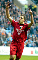 Photo: Ed Godden/Sportsbeat Images.<br />Coventry City v Cardiff City. Coca Cola Championship. 10/02/2007. Cardiff's Michael Chopra celebrates after scoring from the penalty spot.