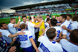 25.05.2019, Profertil Arena Hartberg, Hartberg, AUT, 1. FBL, TSV Prolactal Hartberg vs FC Flyeralarm Admira, Qualifikationsgruppe, 32. Spieltag, im Bild Das Team von TSV Prolactal Hartberg nach dem Klassenerhalt // during the tipico Bundesliga qualification group 32nd round match between TSV Prolactal Hartberg and FC Flyeralarm Admira at the Profertil Arena Hartberg in Hartberg, Austria on 2019/05/25. EXPA Pictures © 2019, PhotoCredit: EXPA/ Dominik Angerer