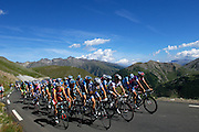 "France - Tuesday, Jul 22 2008: The ""grupetto"" climbs the Col de Restefond during Stage 16 of the 2008 Tour de France cycle race. (Photo by Peter Horrell / http://www.peterhorrell.com)"