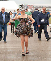 1/7/2012 Ciara Kelly from Granard Co. Longford all filmed up at Junk Kouture Fashion Shows Global Village, Style Platform. Picture :Andrew Downes.