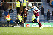 Pablo Fornals (18) of West Ham United heads the ball during the EFL Cup match between Oxford United and West Ham United at the Kassam Stadium, Oxford, England on 25 September 2019.