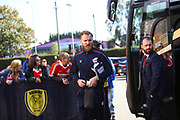 The Scunthorpe players arrive at the Pirelli Stadium during the EFL Sky Bet League 1 match between Burton Albion and Scunthorpe United at the Pirelli Stadium, Burton upon Trent, England on 29 September 2018.