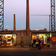 Benzinera Shell. Avinguda Diagonal. Barcelona.