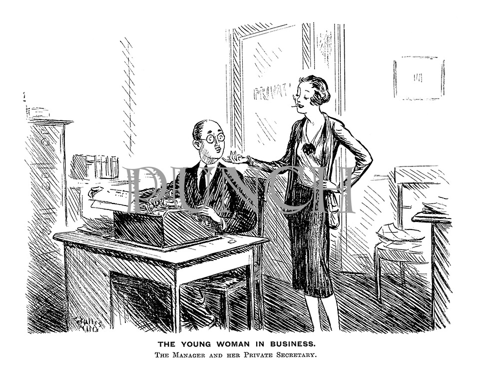 The Young Woman in Business. The Manager and Her Private Secretary.