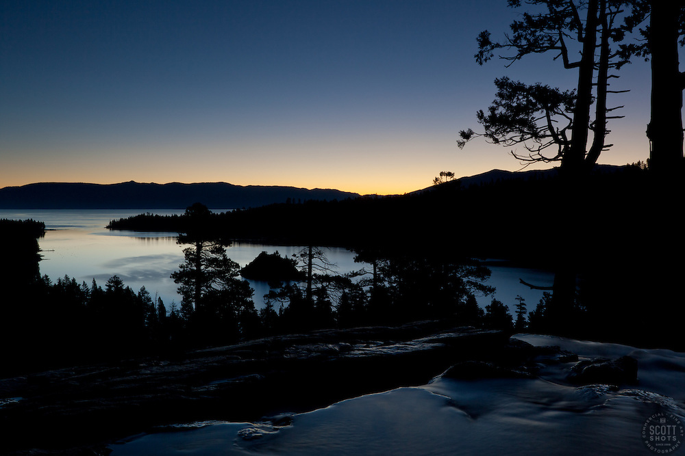 """Emerald Bay Sunrise 4"" - This sunrise was photographed from Eagle Falls above Emerald Bay, Lake Tahoe."