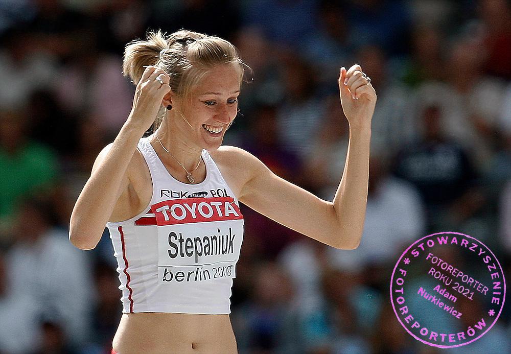 BERLIN 18/08/2009.12th IAAF World Championships in Athletics Berlin 2009.High Jump Women Qualification.Kamila Stepaniuk of Poland ..Phot: Piotr Hawalej / WROFOTO