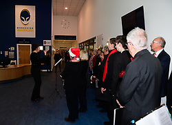 Choir sing carols in reception  - Mandatory by-line: Alex Davidson/JMP - 22/12/2017 - RUGBY - Sixways Stadium - Worcester, England - Worcester Warriors v London Irish - Aviva Premiership