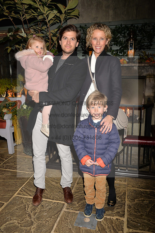Jack & Kate Freud with their children Jago & Georgia at The Ivy Chelsea Garden's Guy Fawkes Party, 197 King's Road, London, England. 05 November 2017.