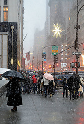 Walk in a winter storm as snow falls in Manhattan, New York City, December 26, 2012. Photo by Imago / i-Images...UK ONLY