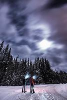 ;;; Night tour., Alberta, Canada, Isobel Springett