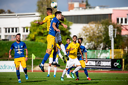 Aljoša Matko of Bravo vs Dušan Stojinović of Celje during football match between NK Bravo and NK Celje in 13th Round of Prva liga Telekom Slovenije 2019/20, on October 5, 2019 in ZAK stadium, Ljubljana, Slovenia. Photo by Vid Ponikvar / Sportida