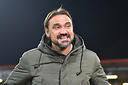 Norwich City manager Daniel Farke being smiling before the EFL Cup 4th round match between Bournemouth and Norwich City at the Vitality Stadium, Bournemouth, England on 30 October 2018.