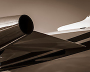Detail of a Challenger 605, photographed at Kalamazoo International Airport, Michigan.