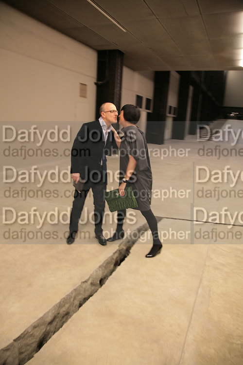 STEPHEN FRIEDMAN AND ALICE RAWTHORN, Doris Salcedo  installation and Louise Bourgeois - private view. Dinner afterwards for the Louise Bourgeois exhibition. Tate Modern, London, SE1,-DO NOT ARCHIVE-© Copyright Photograph by Dafydd Jones. 248 Clapham Rd. London SW9 0PZ. Tel 0207 820 0771. www.dafjones.com.