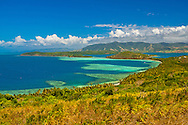 Image taken standing on a rock,  the region is covered in  just above  head height grasses. Nananui-i-ra Island,  Fiji.