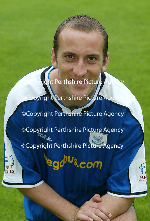 St Johnstone FC  season 2004-05<br />Paul Sheerin<br /><br />Picture by Graeme Hart.<br />Copyright Perthshire Picture Agency<br />Tel: 01738 623350  Mobile: 07990 594431