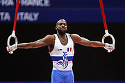Axel Augis (France) team bronze medal at the ring competition during the presentation of the teams during the European Championships Glasgow 2018, Team Men Final at The SSE Hydro in Glasgow, Great Britain, Day 10, on August 11, 2018 - Photo Laurent Lairys / ProSportsImages / DPPI