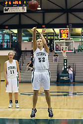10 January 2009: Stacey Arlis tosses a free throw. The Lady Titans of Illinois Wesleyan University downed the and Lady Thunder of Wheaton College by a score of 101 - 57 in the Shirk Center on the Illinois Wesleyan Campus in Bloomington Illinois.