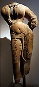 female deity (Buddhist), in the Baphuon style (1050-1100). Sandstone sculpture from Preah Vihear (temple), Cambodia