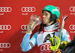 27.01.2015, Planai, Schladming, AUT, FIS Skiweltcup Alpin, Schladming, Siegerehrung, im Bild Felix Neureuther (GER) // Felix Neureuther (GER) during the prize giving ceremony of the men's slalom of Schladming FIS Ski Alpine World Cup at the Planai Course in Schladming, Austria on 2015/01/27, EXPA Pictures © 2015, PhotoCredit: EXPA/ Erwin Scheriau