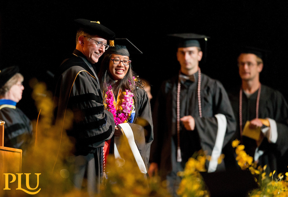 PLU Commencement in the Tacoma Dome on Saturday, May 23, 2015. (Photo: John Froschauer/PLU)