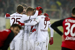 January 20, 2017 - Freiburg, Germany - Robert Lewandowski of Muechen celebrates scoring his second goal with teamates during the Bundesliga match between SC Freiburg and Bayern Muenchen at Schwarzwald-Stadion on January 20, 2017 in Freiburg im Breisgau, Germany. (Credit Image: © Elyxandro Cegarra/NurPhoto via ZUMA Press)