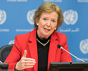 Ms. Mary Robinson, former President of Ireland and former High Commissioner for Human Rights and member of the United nations Representatives of the Elders, at the United Nations on May 9, 2017
