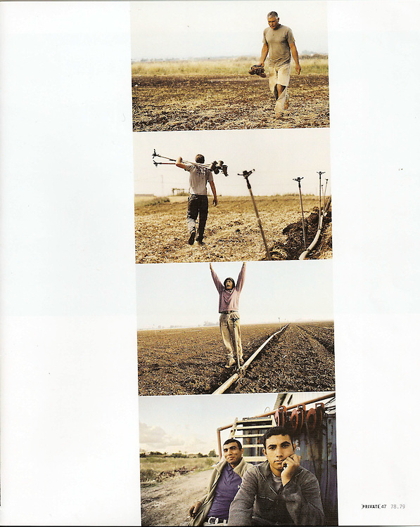 PRIVATE Magazine - International Review of Photographs. December 2009.  An Issue dedicated to Israeli contemporary photography Land Work - Israelis and Palestitinians working in the fields of Hefer Valley, Israel
