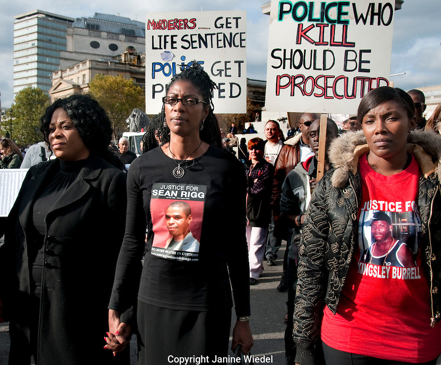 Families and friends of relatives who have died  in police custody march through London appeal for justice.