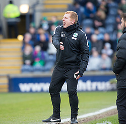 Hibernian's manager Neil Lennon. Raith Rovers 1 v 1 Hibernian, Scottish Championship game played 18/2/2017 at Starks Park.