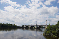 Memorial Bridge over Connecticut River at Springfield, MA