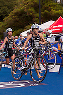 Juri Ide JPN.Womens ITU Race.2011 Dextro Energy Triathlon ITU World Championship Sydney.Sydney, New South Wales, Australia..Hosted By USM Events.Proudly Supported By Asics, Dextro, Suunto, Events New South Wales, Subaru, USM Events..10/04/2011.Photo Lucas Wroe
