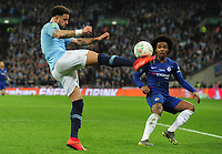 Football - 2019 EFL League Cup Final (Carabao Cup) - Manchester City vs. Chelsea<br /> <br /> Kyle Walker of Man City and Willian of Chelsea, at Wembley Stadium.<br /> <br /> COLORSPORT/ANDREW COWIE