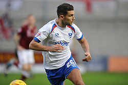 Pompeys Gareth Evans Portsmouth, Northampton Town v Portsmouth, Sixfields, Sky Bet League 2, Saturday 19th December 2015
