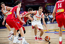 Stefan Jovic of Serbia vs Dmitry Khvostov of Russia during basketball match between National Teams of Russia and Serbia at Day 16 in Semifinal of the FIBA EuroBasket 2017 at Sinan Erdem Dome in Istanbul, Turkey on September 15, 2017. Photo by Vid Ponikvar / Sportida